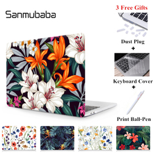 Sanmubaba Laptop Case For Apple Macbook Air 11 13 Pro Retina 12 13 15 inch With Touch bar Hard Cover Tropical Plants Laptop Bag