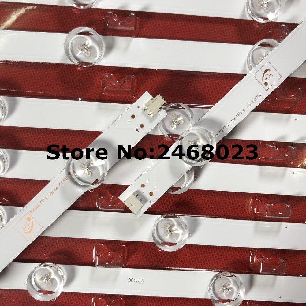 (New Kit)14 PCS/set LED backlight strip for LG 55 inch TV 55LN5400 55LN5200 55LN5700 innotek Pola 2.0 POLA2.0 55 inch R L type-in LED Bar Lights from Lights & Lighting    1
