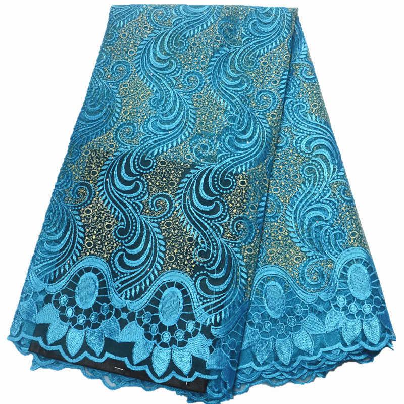 แอฟริกันลูกไม้ผ้าลูกไม้คุณภาพสูง 2019 ปักลูกไม้ไนจีเรียผ้าผู้หญิงสีฟ้าสีม่วงภาษาฝรั่งเศสคำลูกไม้ผ้าตาข่าย