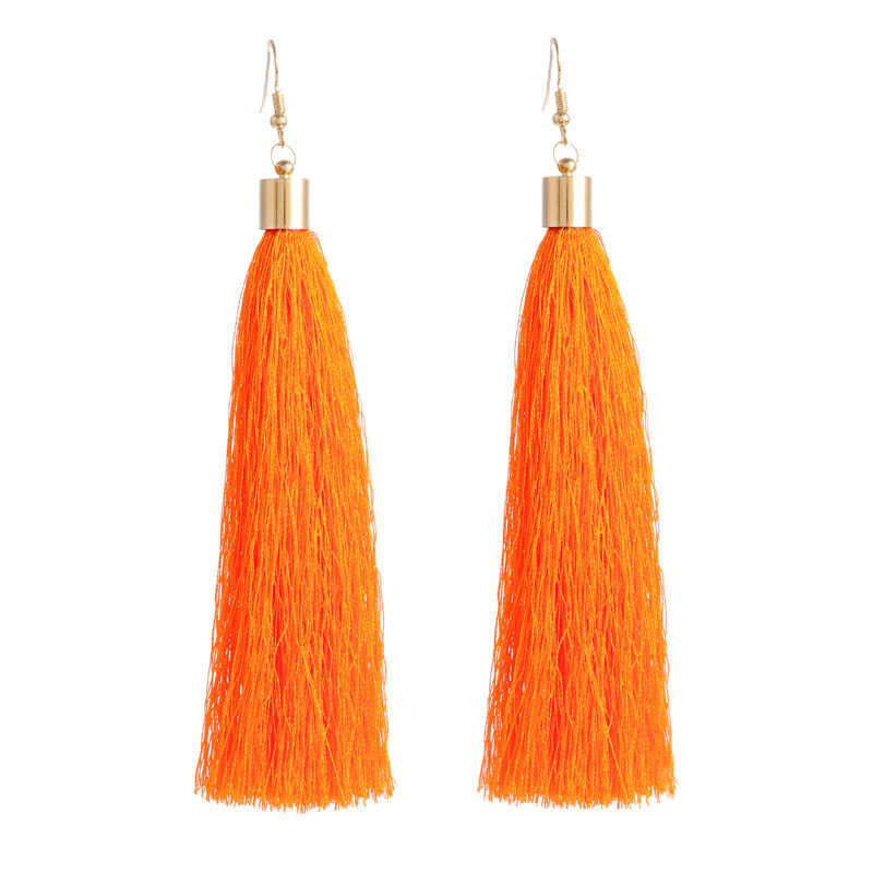 FUNIQUE Popular Ethnic Long Tassel Earrings Simple Earring Jewelry 2018 Vintage Women Brand Geometric Alloy Plating Dropshipping