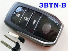 Чехол RMLKS для автомобильного пульта дистанционного управления с 3 кнопками и аварийным ключом, подходит для смарт-ключа Toyota