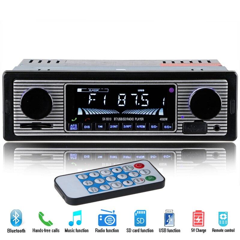 imágenes para NUEVA 12 V Del Coche Reproductor de Radio Estéreo Bluetooth FM MP3 USB SD AUX de Audio de Electrónica de Automóviles autoradio 1 DIN oto teypleri radio párr carro