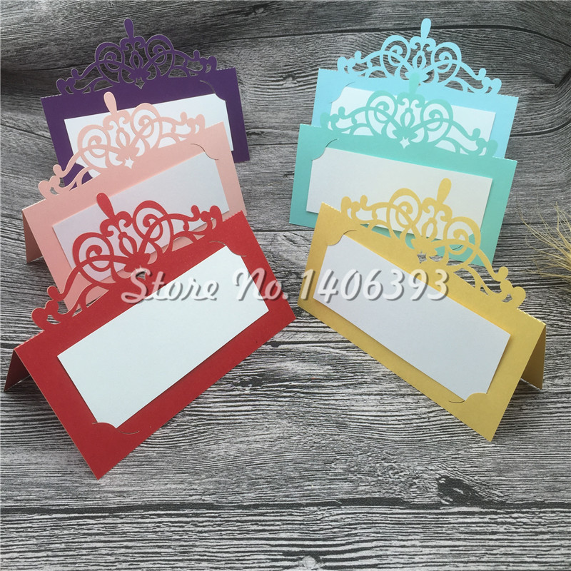 30pcs lot new muti colors table decoration card for Personalized wedding place cards