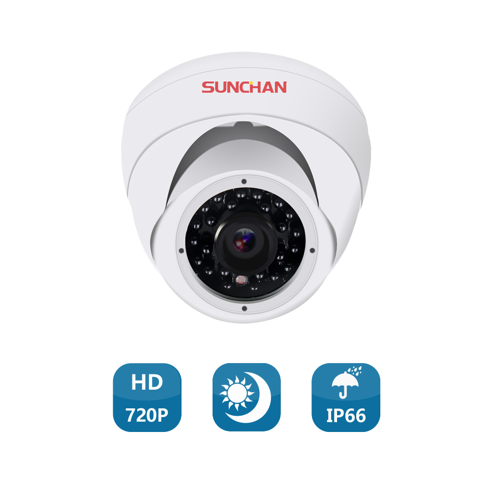 SUNCHAN AHD 1/4 CMOS 3.6MM 1200TVL CCTV Lens Indoor High Resolution Dome Security Dome CCTV Camera Surveillance Camera