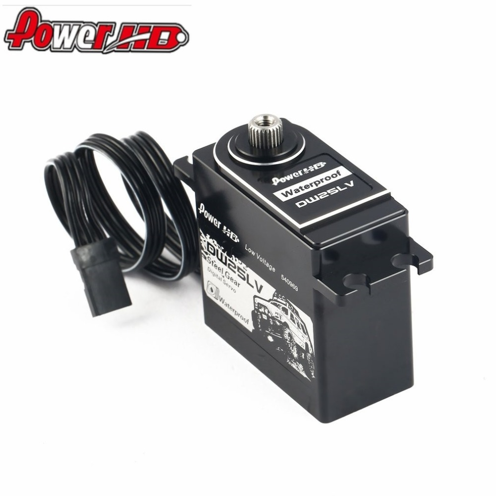 HOT! POWER HD DW-25LV Waterproof Metal Gear Digital Coreless Servo with 25kg High Torque for 1/10 RC Remote Control Car Boat new arrival power hd b4 25kg high torque brushless metal gear servo for rc airplane 3d f3a