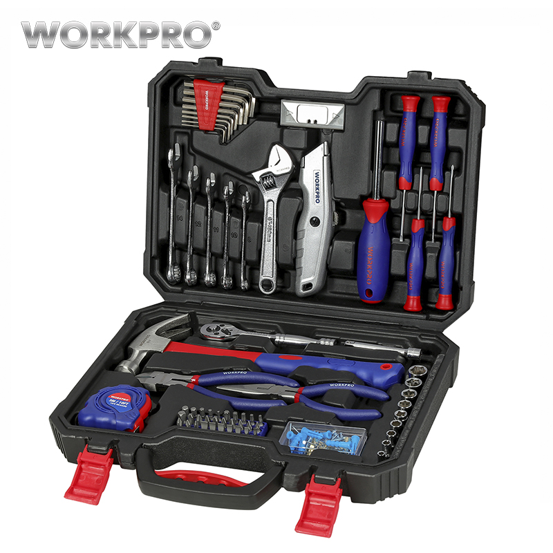 WORKPRO 160PC Tool Set Hand Tools for Daily Use Home Tool Set Househould Tool Kits Screwdriver