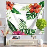 2 boyutları Çiftlik Tarzı Tropikal Bitki Çiçek Yeşil Yaprak Goblen Plaj Halı El Yıkanabilir Oturma Odası Yatak Odası Ev Dekorasyon