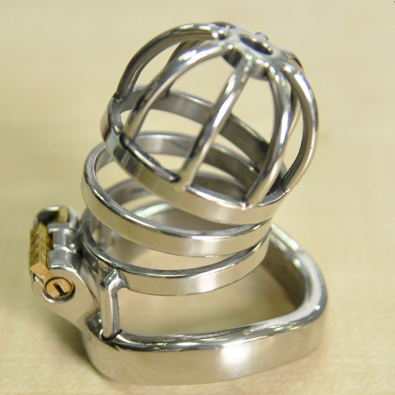304 Stainless Steel Chastity Belt Penis Cage Cock Ring Sleeve Male Chastity Device Peins Lock Adult Games BDSM Sex Toys For Men