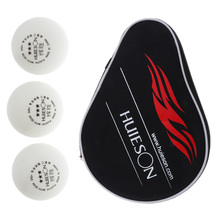 цена на Table Tennis Racket Case Ping Pong Paddle Cover With Ball Pouch + 3 Pieces Balls For Training Professional Ping Pong