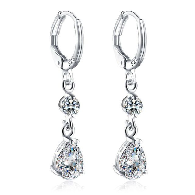 Luxury silver tone fashion chandelier dangle earrings for women girl luxury silver tone fashion chandelier dangle earrings for women girl gifts jewelry austrian crystal leverback drop aloadofball Image collections