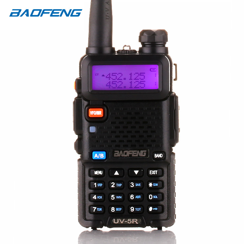 BaoFeng walkie talkie UV-5R zwei weg radio upgrade version baofeng uv5r 128CH 5 W VHF UHF 136-174 Mhz & 400-520 Mhz