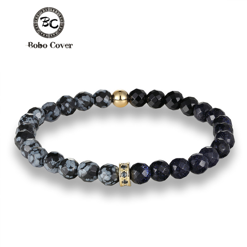 Jewelry & Accessories Bobo Cover Trendy Beads Elastic Chain Brazalete Star Stone Couple Bracelet For Women And Men Bracelets & Bangles Gift Jewelry Chills And Pains