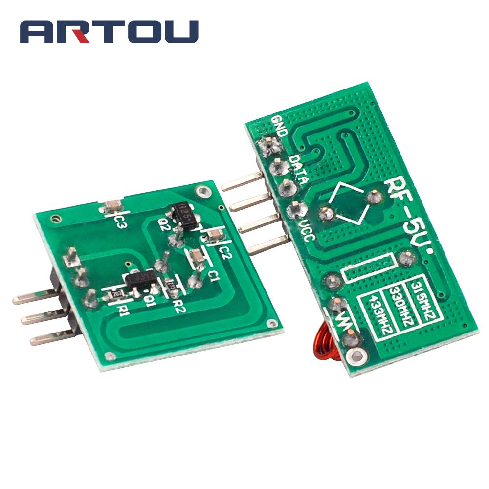 1pair2pcs 433mhz Rf Wireless Transmitter Module And Receiver Link Pair Operating At 433 Mhz Kit In Integrated Circuits From Electronic Components Supplies On