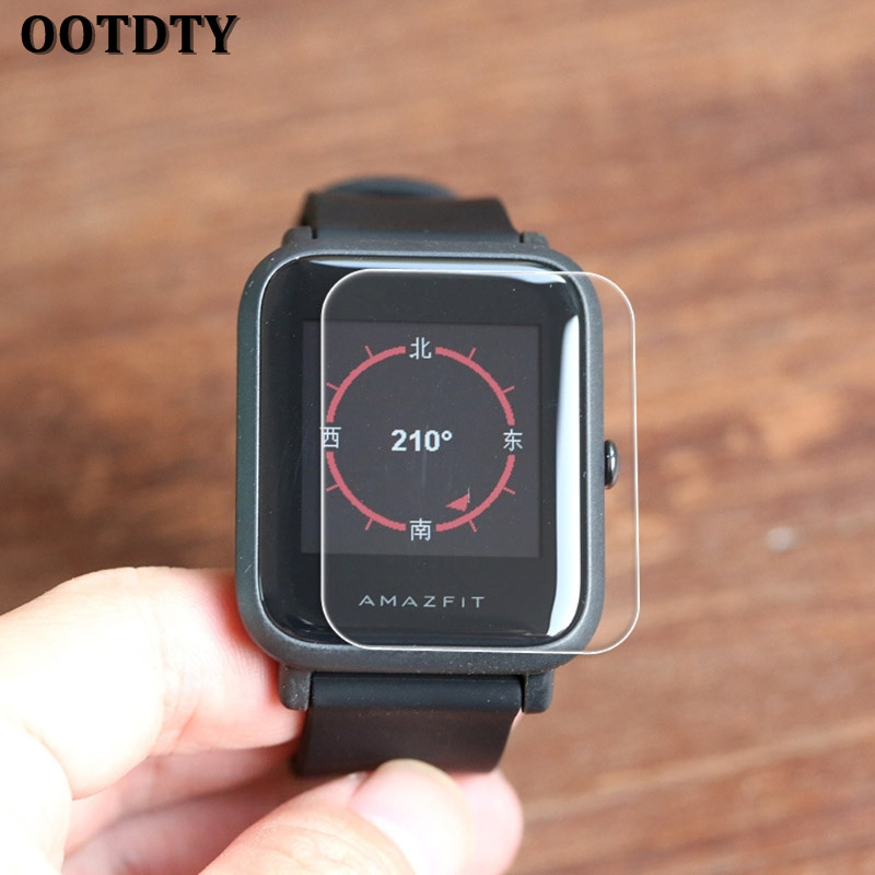 OOTDTY HD Screen Protector Film For Xiaomi Huami Amazfit Bip PACE Lite Youth Smart Watch 3in1 metal strap double color band for original xiaomi huami amazfit bip bit pace lite youth smart watch screen protector film