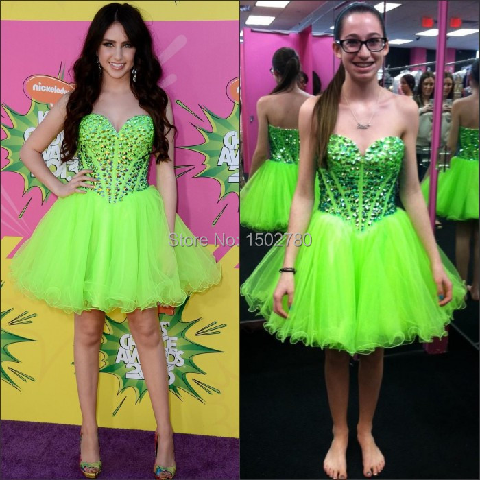 Kendall Jenner Short Dress: Kendall Jenner Dress Fluorescent Color Ball Gown