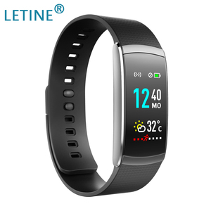 Image 1 - Letine Smart Bracelet Heart Rate Monitor Touch Color Screen Sports Fitness Tracker I6 PRO C Smart band IP67 2019 Wristband