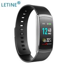 Pulsera inteligente Letine Monitor de ritmo cardíaco pantalla táctil Color deportes Fitness Tracker I6 PRO C banda inteligente IP67 2019 pulsera