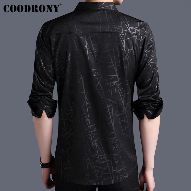 COODRONY Men Shirt Autumn New Arrivals Long Sleeve Business Dress Cotton Shirt Men Fashion Striped Slim Fit Casual Shirts 96002 in Casual Shirts from Men 39 s Clothing