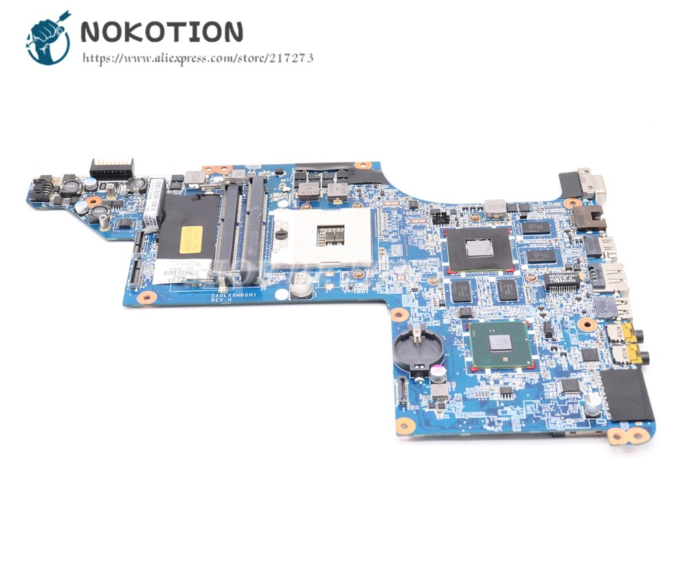 все цены на NOKOTION 605320-001 615307-001 Laptop Motherboard For HP Pavilion DV7 DV7-4000 Main Board DA0LX6MB6H1 Support I7 Only HD5650 1GB