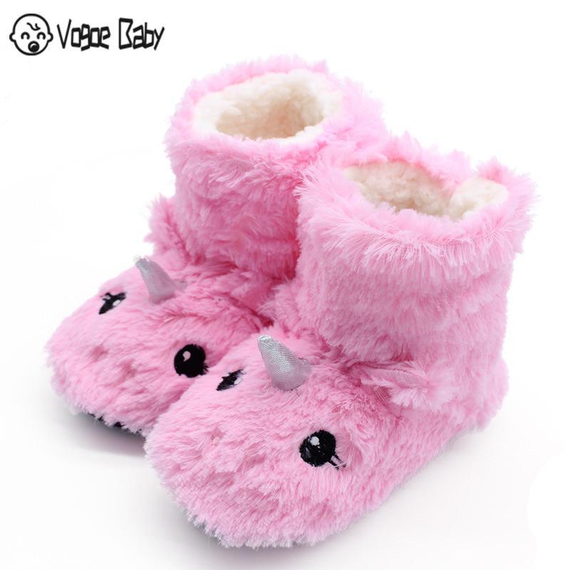Girls Boys Little Kid Cute House Slippers Fur Lined Ear Dog Winter House Slippers Indoor Little Kids//Big Kids