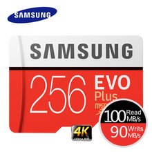 Carte mémoire SAMSUNG EVO Plus 4K Ultra HD Micro SD 256 go 128G 64 go Class10 carte MicroSD C10 UHS-I(China)