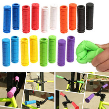 1 Pair Bicycle Handlebar Grips Soft Rubber Cycling BMX MTB Mountain Bike Scooter Fixed Gear Bar End Parts Accessory Tool ED-ship bicycle mountain handlebar bar end grips red