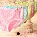 Высокое Качество Женщины Хлопок Трусы Трусы с Низкой Талией Дышащий Цветочные Трусики Трусы