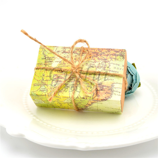World map candy boxes drawer pull carton wrapped kraft paper box world map candy boxes drawer pull carton wrapped kraft paper box wedding traveling theme gift bag gumiabroncs Images