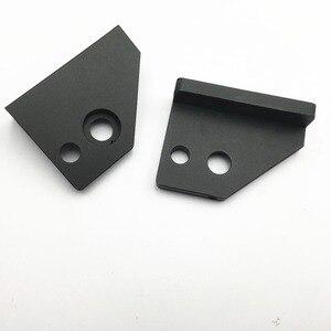 Image 3 - 22mm hole מרחק AM8/ Anet A8 3D מדפסת שחול גרסה שחור anodized Z ציר צעד מנוע הר ו למעלה מוט קיט מחזיק