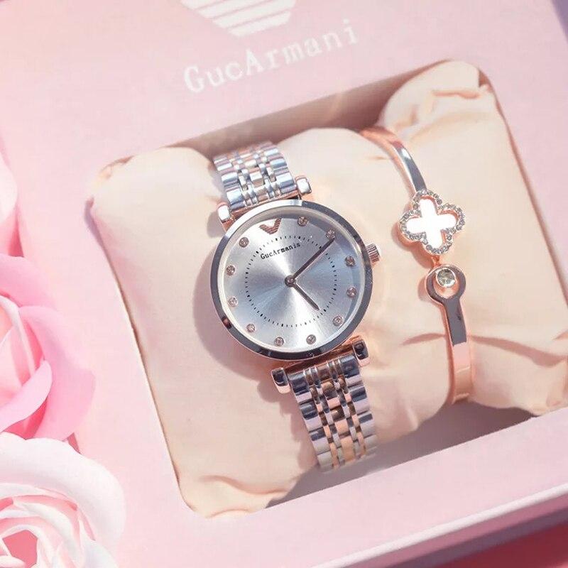 Montres coffret cadeau pour fille amie montre de haute qualité avec Bracelet Rose ensemble femmes saint valentin anniversaire fête des mères cadeau