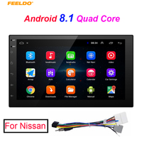 FEELDO New 7inch Ultra Slim Android 8.1 Quad Core Media Player With GPS Navi Radio For Nissan Car Head Unit + Gift