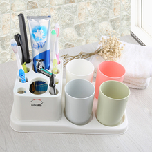New Arrival Toothbrush Holder with toothbrush cup storage rack Organizer Bathroom Accessories