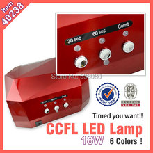 #40238 Free shipping quick dry 18w CCFL LED Nail Lamp 18W,fast dryer 18w ccfl ice led lamp