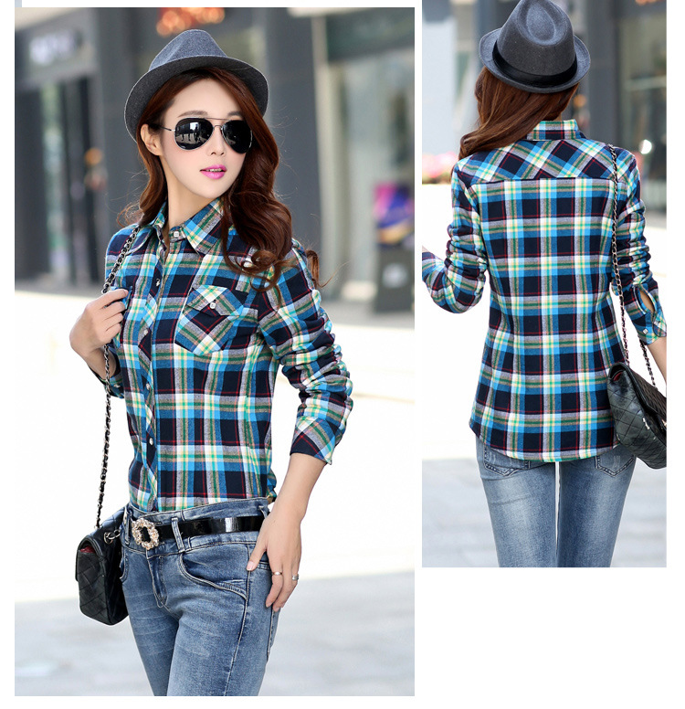19 Brand New Winter Warm Women Velvet Thicker Jacket Plaid Shirt Style Coat Female College Style Casual Jacket Outerwear 14