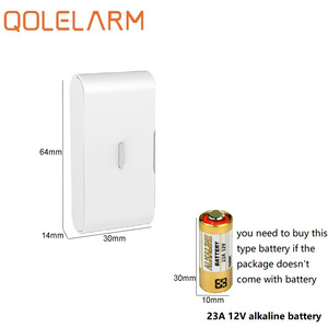 Image 3 - QOLELARM 10pcs 433MHz Wireless glass vibration sensor break detector with baterry for security home WiFi gsm alarm system
