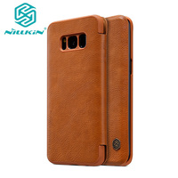 NILLKIN Ultra Thin Classic Flip Leather Cover For Samsung Galaxy S8 S8 Plus Capa PC Plastic