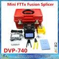 Envío Libre de DHL Soldadura Máquina de Empalme De Fibra Óptica FTTH Fibra Óptica Fusionadora DVP-740