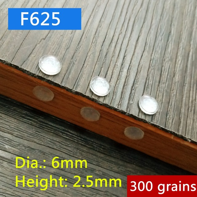 300 Grains 6x25mm Mini Cabinet Door Bumper Self Adhesive Silicone