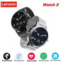Original Lenovo Watch X Smart Watch Waterproof 8ATM Smartwatch Bluetooth Heart Rate Monitor Sport Sapphire for iOS Andorid(China)