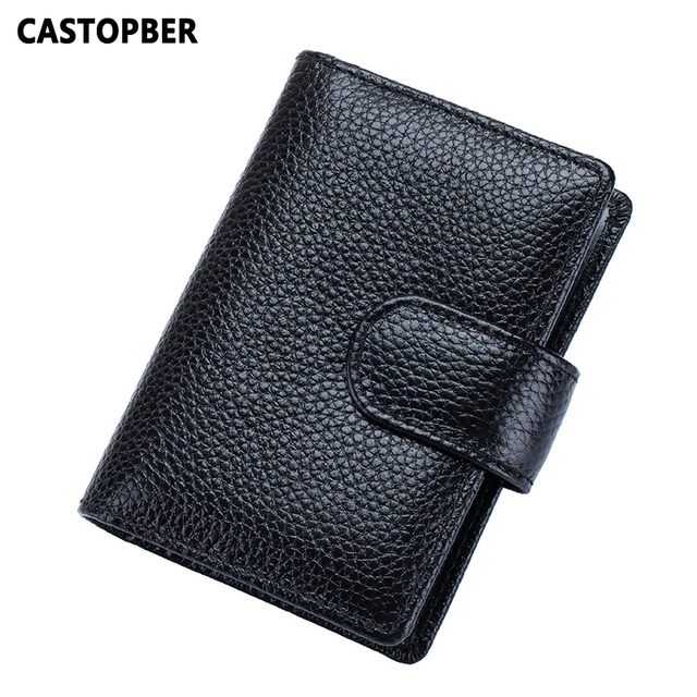Business Credit ID Card Holder Genuine Leather Man Cowhide Women's Card Case Causal Bag 18 Pages 2017 New Designer High Quality