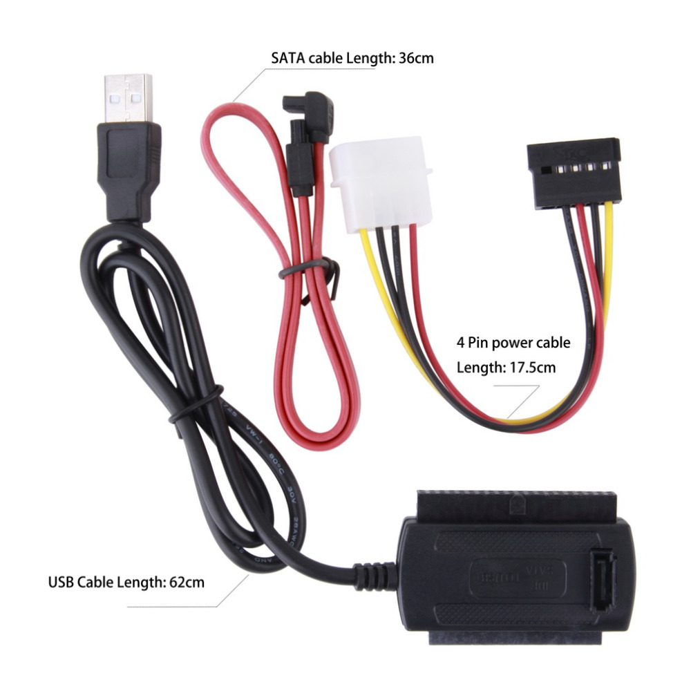 цены на SATA/PATA/IDE Drive to USB 2.0 Adapter Converter Cable for 2.5 / 3.5 Inch Hard Drive Hot Worldwide Wholesale