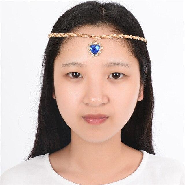 Estilo indiano Pena Headband Acrílico Borlas Boho Hippie Carnaval Cocar  Rainha Acessórios para o Cabelo Partido a810846ed1b