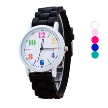 Women Fashion Silicone Watches Motion Quartz Clcok Ladies Quartz Analog Wrist WatchF3