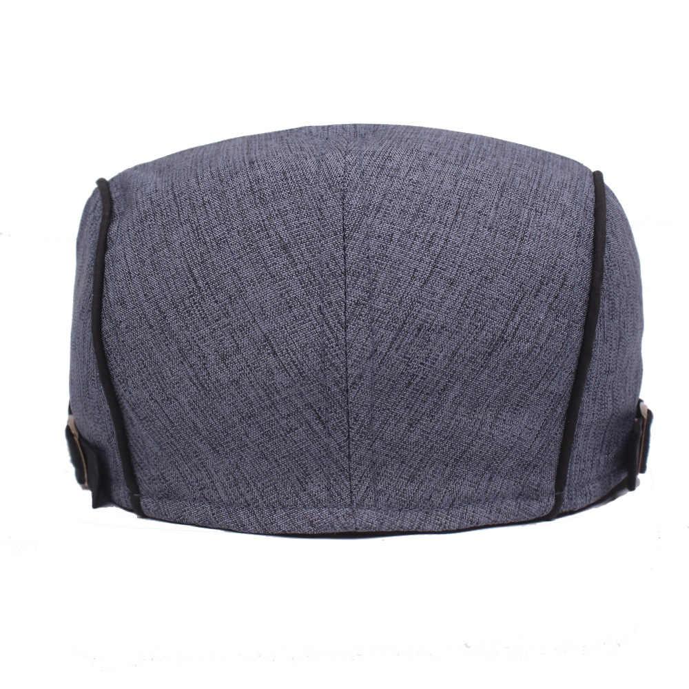 RoxCober 高品質の新綿ブレンドフラットキャップシンプルなファッションアイビーギャヴィンテージキャスケットキャップ調整ベレー