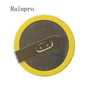 Image 4 - Rainpro 5 قطعة/الوحدة CR2032 2032 مع لحام القدم 210mAh 3 فولت بطارية ليثيوم أيون زر خلية