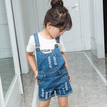 NEW 2017 Kids Boys Girls Denim Shorts Jeans Soft Kids Girls Suspender Jeans To Chidren shorts Infant Overalls 1