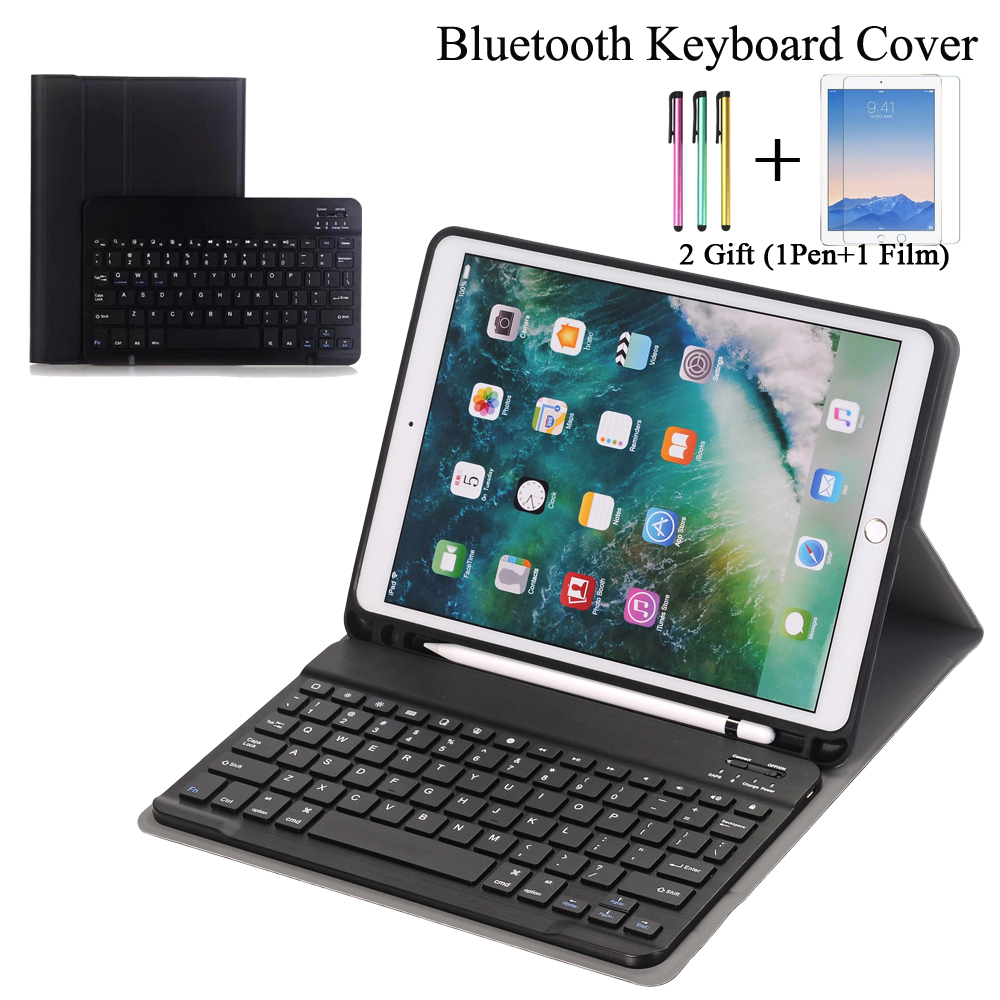 san francisco b5aae da420 Keyboard Case For Apple Ipad Pro 10.5 10.5Inch A1701 A1709 With Apple  Pencil Holder Leather Smart Magnetic Cover Case+Film +Pen
