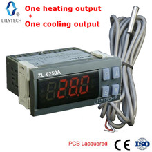 ZL-6250A, Constant temperature controller, Digital temperature, cooling and heating control, Thermostat, Dual relays, Lilytech electric heating sleeve 20000ml digital intelligent temperature control type beijing zte