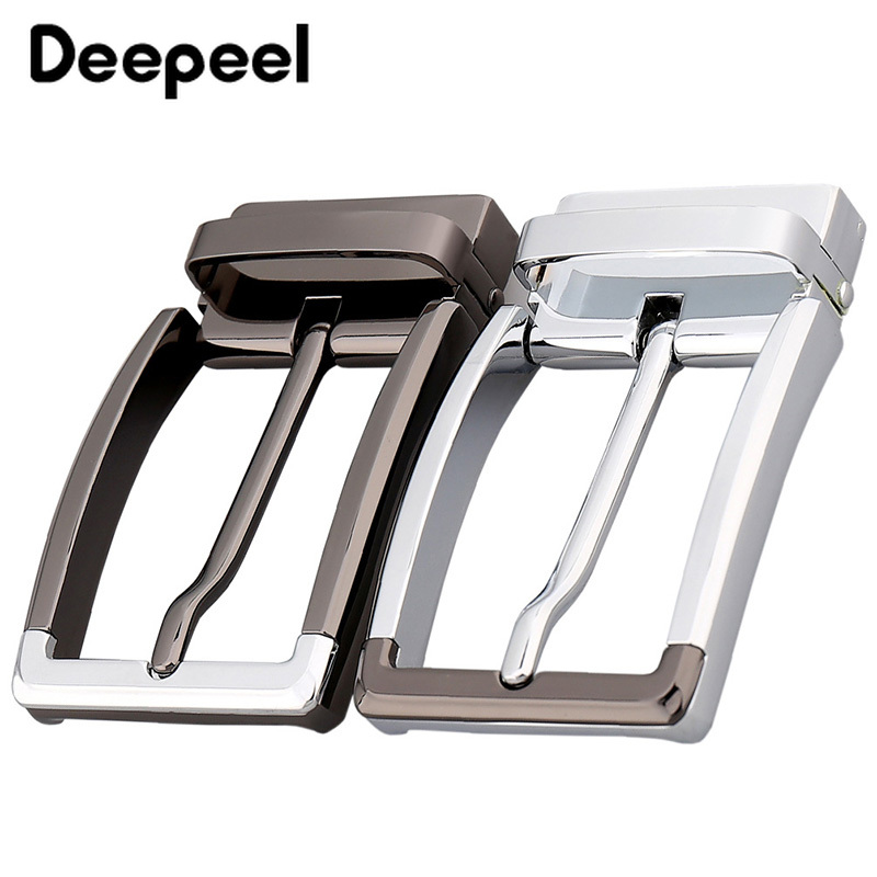 Deepeel 1pcs 35mm Fashion Men Belt Buckles Metal Pin Buckle For Belt Width 33-34mm DIY Leathercraft Hardware Accessories KY170