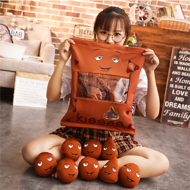 Awesome Us 23 74 5 Off 8 Pieces Snack Pudding Plush Toys Soft Pillow Chocolate Beans Strawberry Jelly Donut Plush Doll Children Baby Sleeping Cushion In Home Interior And Landscaping Eliaenasavecom